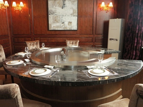Circle Gas Electric Hibachi Table Teppanyaki Grill Table For R - Hibachi table restaurant