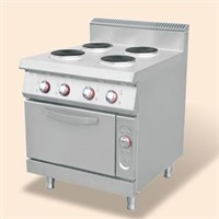 Electric 4-round hotplate Cooker with oven