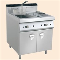 Electric Style Two Tank Fryer Include Two Basket With Cabinet