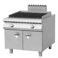 Italy style Electric Lava Rock Grill with Cabinet