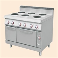 Electric 6-round hotplate Cooker with oven& cabinet