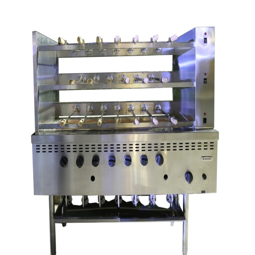 Multi Layer Gas Brazil Kebab Roaster BBQ Grill
